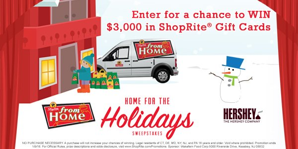 Chance 2 WIN $3,000 in ShopRite Gift Cards from @HersheysKisses! Enter 12/27/15 – 1/2/16: https://t.co/re1FhPKwtu https://t.co/SYPALZ9EJt