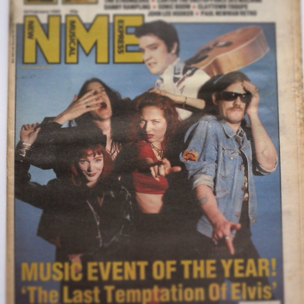 Lemmy, Clint, Vix, & Tracey. 1990 NME shoot. We argued over a bottle of vodka! RIP#Lemmy! The one & only!