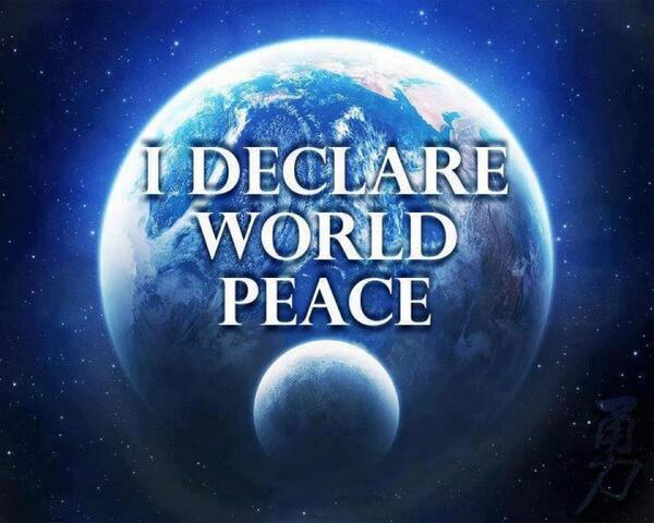 When we declare world peace We choose to love each other and our beautiful planet Earth  #IDWP #IAmChoosingLove https://t.co/EviMH3Gn2L