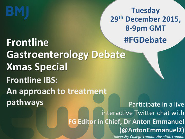 The #FGDebate at 8-9pm tonight is with our Editor in Chief @AntonEmmanuel2 - join us then to discuss #IBS https://t.co/alTi6W8yRV