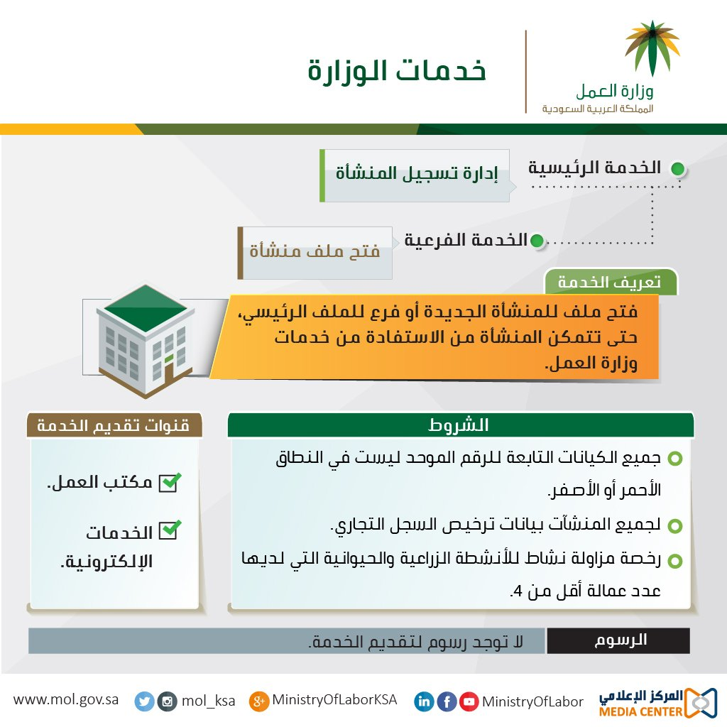 وزارة العمل الخدمات الالكترونية فتح ملف