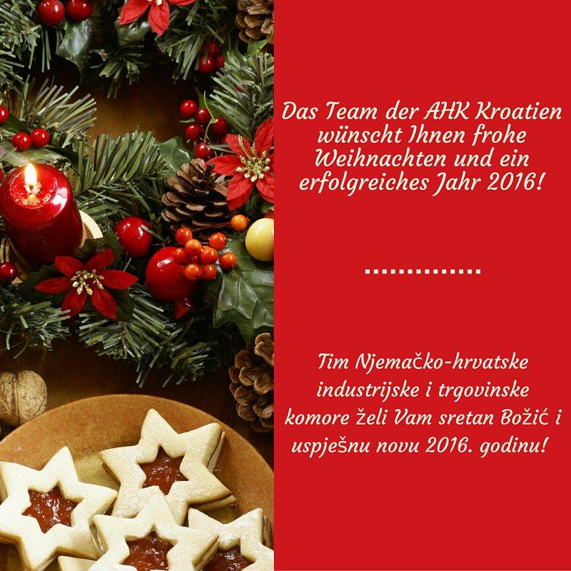 Weihnachten In Kroatien.Ahk Kroatien On Twitter Das Ahkteam Wünscht Frohe Weihnachten Und