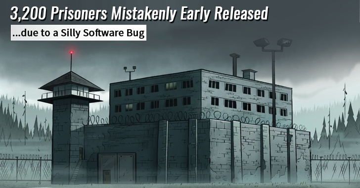 Jail Authorities Mistakenly Early Released 3,200 Prisoners due to a Silly #Software Bug https://t.co/DseyV1haHR