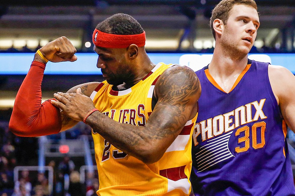 4e9258b30ac too strong cavaliers lebron james flexes after basket vs suns getty weeks  best