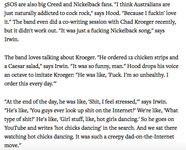 Can't stop thinking about the Tao of Chad Kroeger's 12-chicken-strips-plus-Caesar-salad-plus-YouTube lifestyle. https://t.co/vplf1T66GA