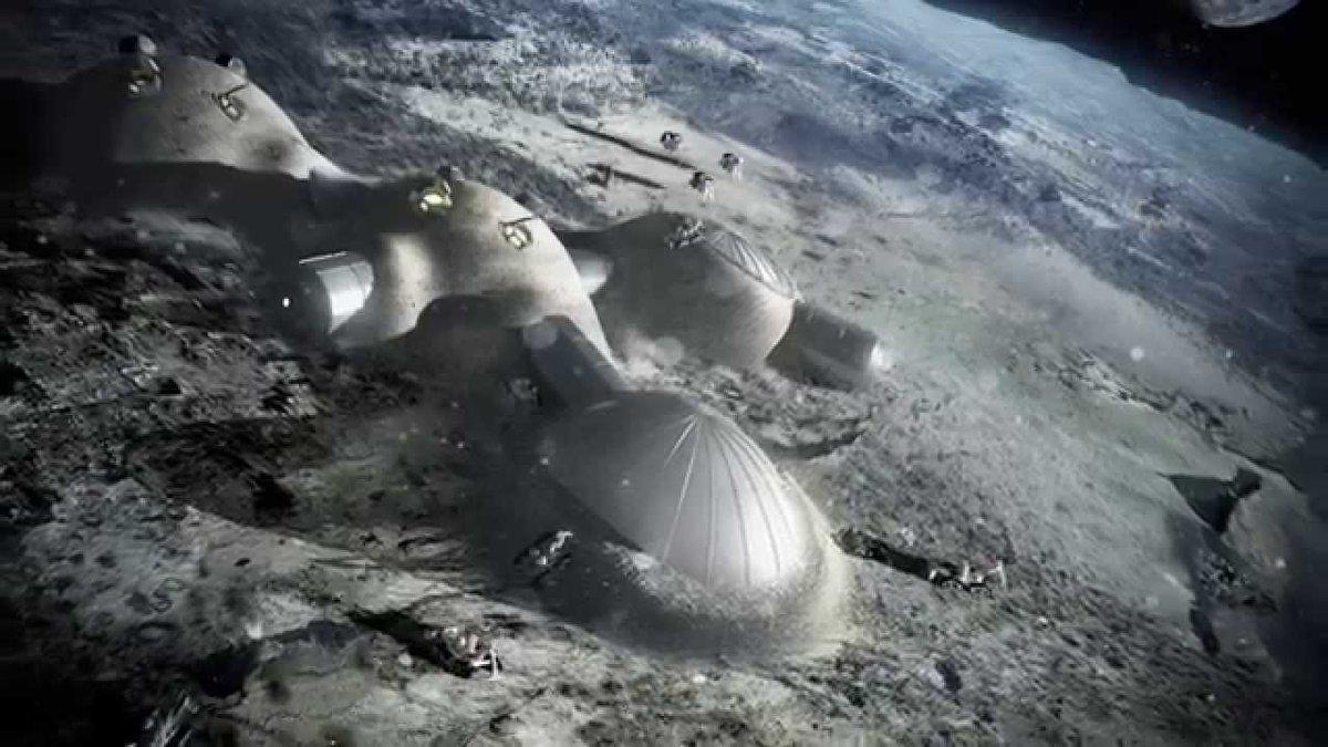 Stampa 3D di una ipotecica Base Lunare