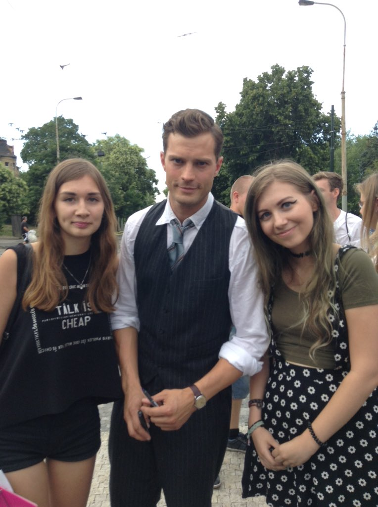 @_typicalanna 10. Deciding to go meet Jamie Dornan with @mattyftharry just so we could say we met him filming