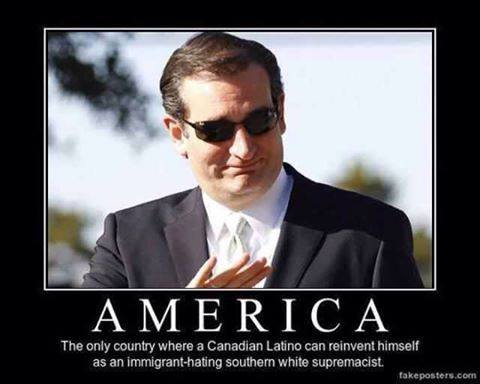"Rafael Edward ""Ted"" Cruz Born in Calgary, Canada.  Mother gave up her US Citizenship before he was born. https://t.co/y9X9C9UHae"