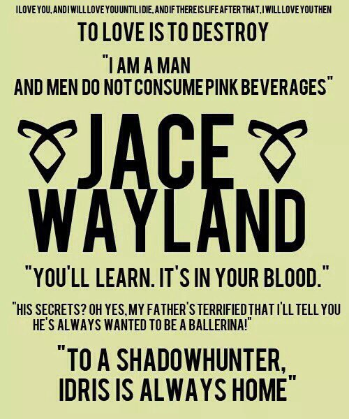 """Shadowhunters on Twitter: """"Jace 💕 #quotes """"To #love is to ..."""