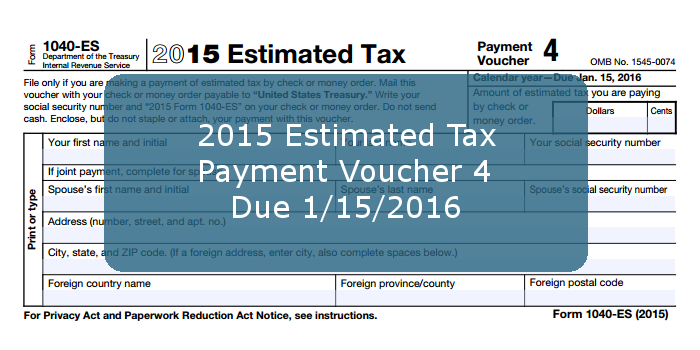 Income Tax Pro On Twitter Payment Due Date For Form 1040 Es 2015