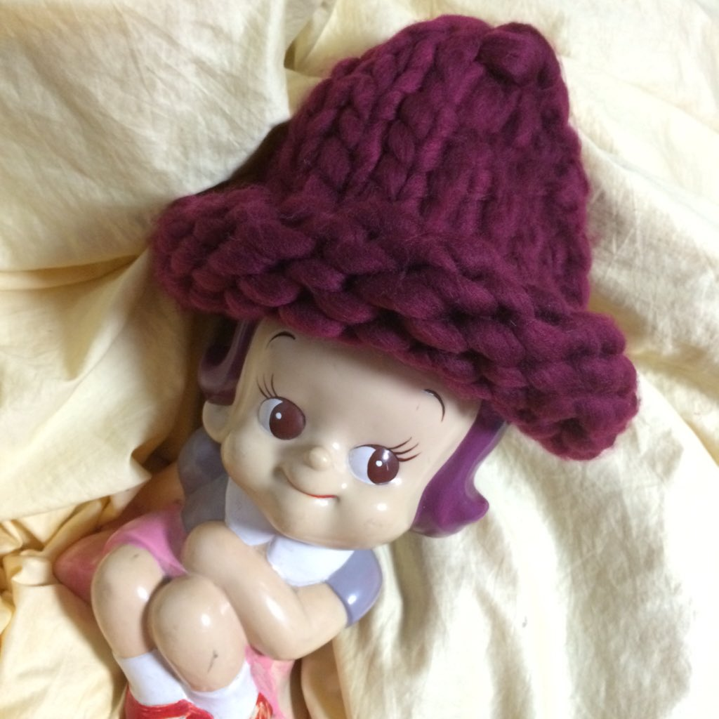大人気♡ルーピーマンゴー風ニット帽を編み物♡可愛い作品集♪
