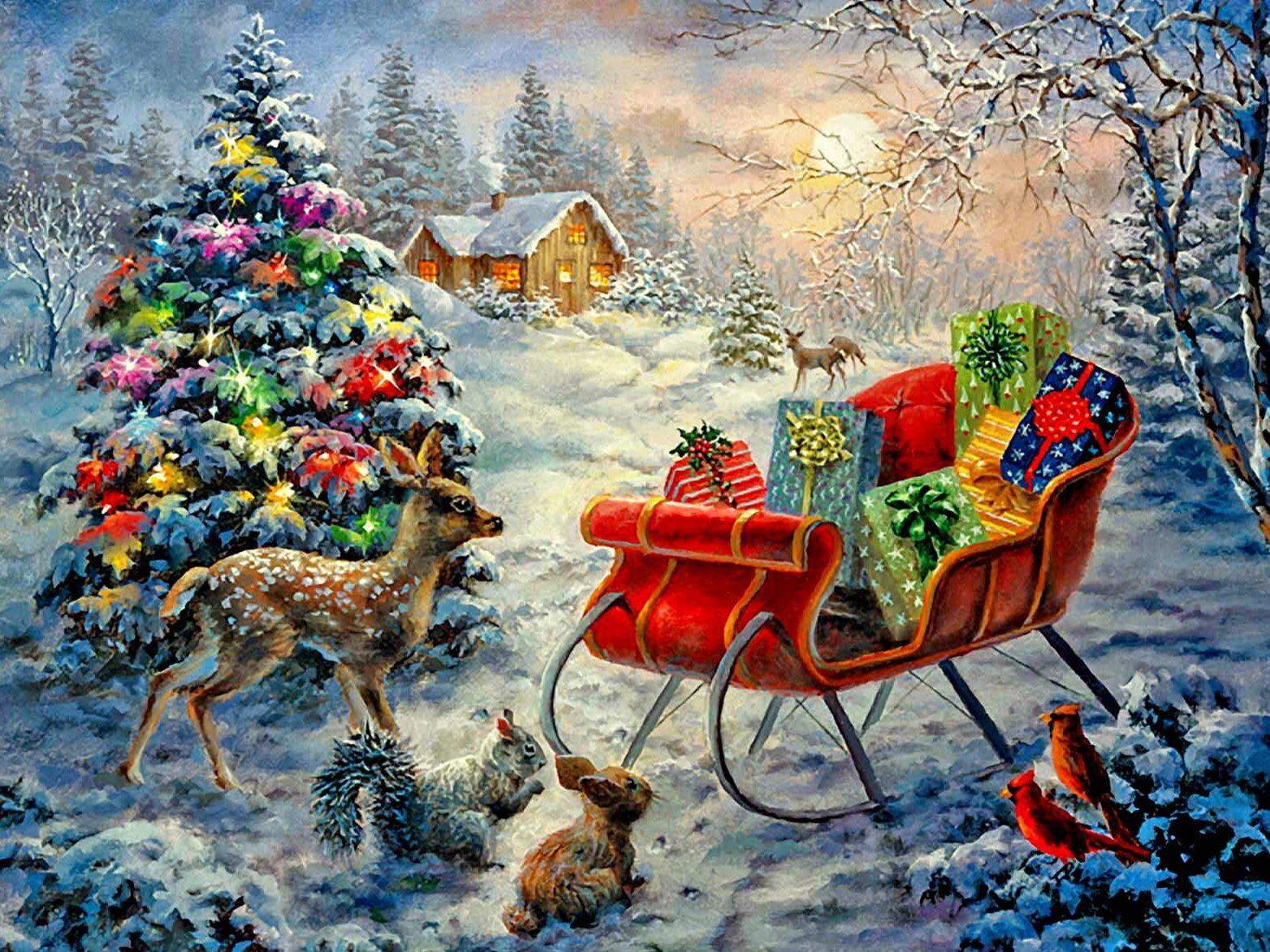 Дедушке, зимние картинки с новым годом красивые