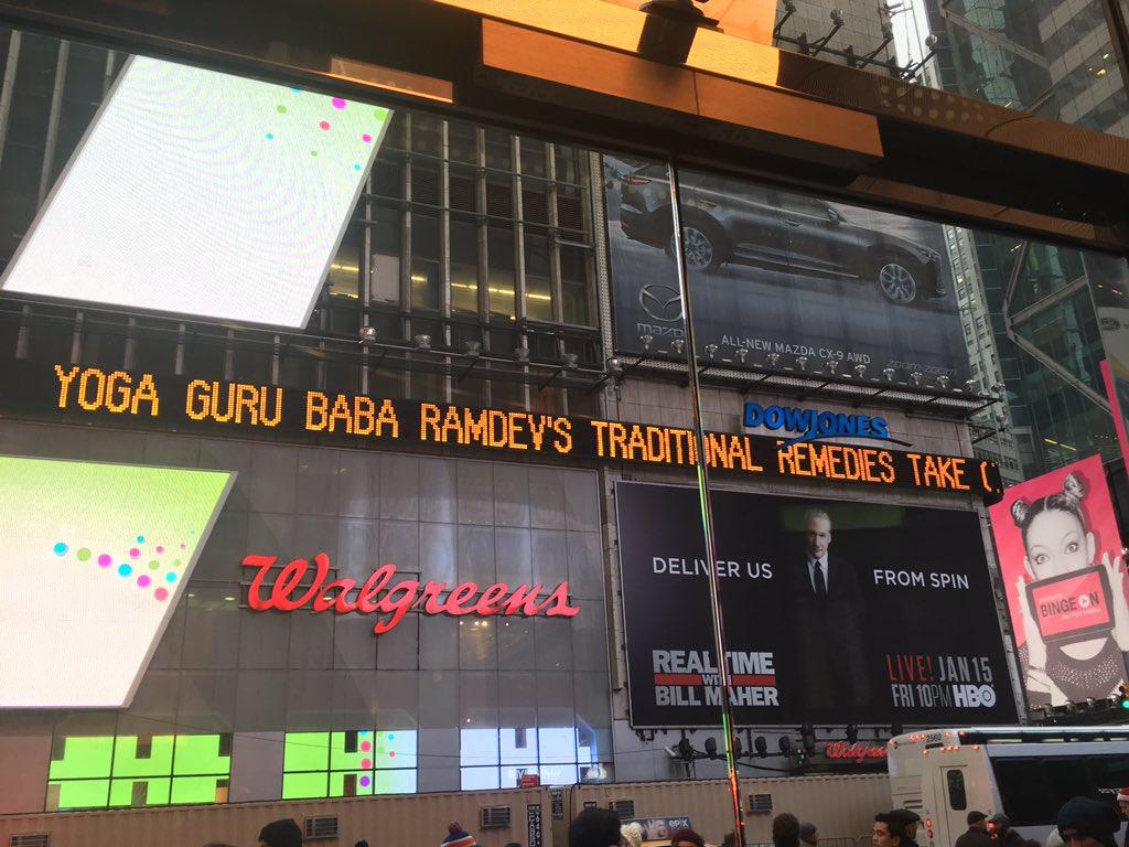 Baba Ramdev: big in Times Square. https://t.co/oyUJawhyMV