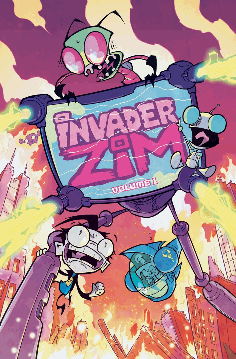 HEY! Want your comic shop to get Invader ZIM Vol. 1 next month? Tell them by Monday or it's grim death, I guess! https://t.co/eZtglNShL1