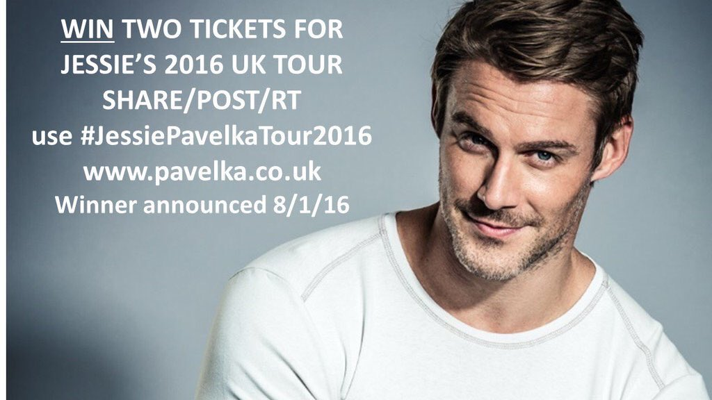 I may be in trouble but I've just upped the prize to 2 sets of 2 tickets!! RT #JessiePavelkaTour2016