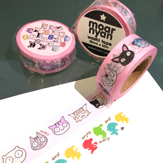 Oh yeah! @kyubikitsy's new washi tape 'moar nyan' is now available! https://t.co/DoJYaoexkd #cats #washitape #cute https://t.co/pA9p2cyiKj