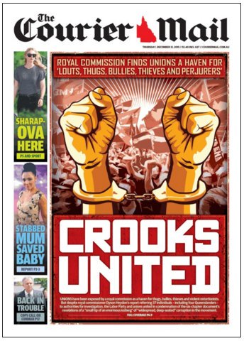 The Courier Mail: December 31, 2015 - Crooks United.
