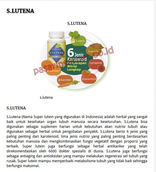 S lutena / S.Lutena / S-Lutena / Super Lutena