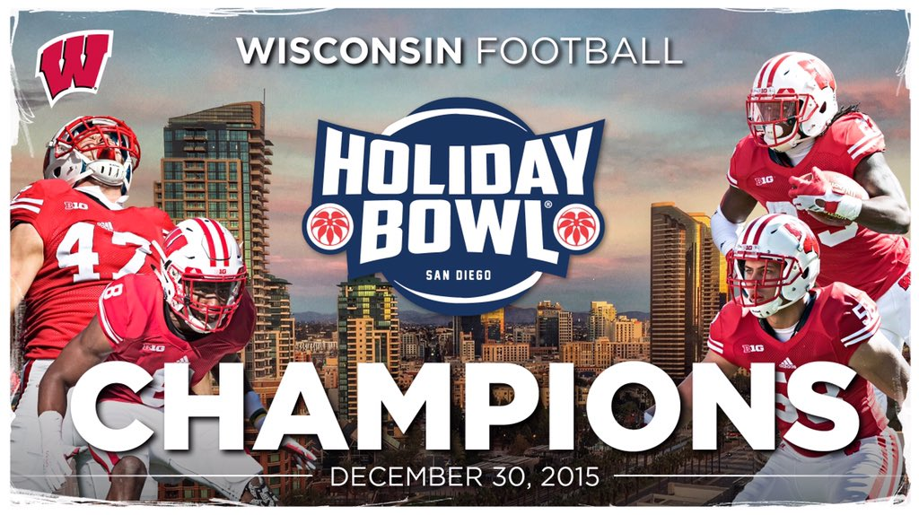 On, Wisconsin! #BADGERS WIN! https://t.co/lRSnKGlLke
