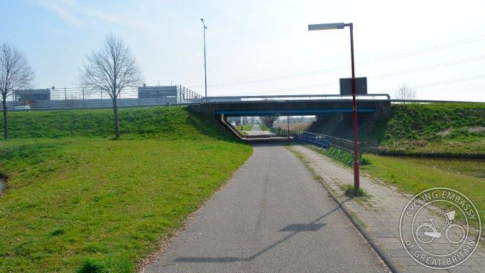 Seven well-lit bike lanes