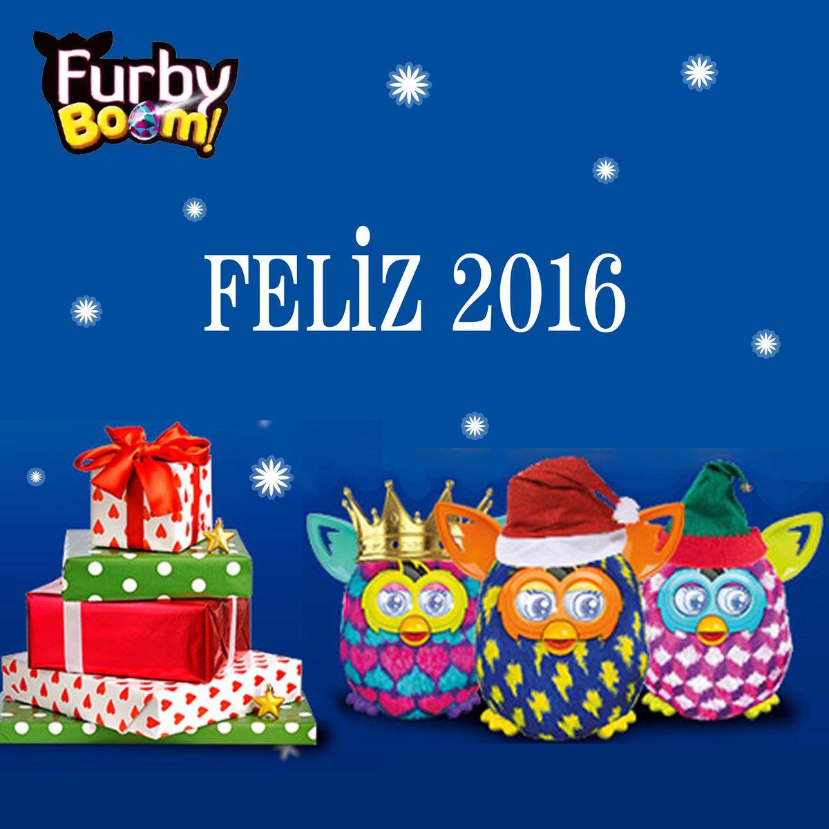 Toda la familia #FurbyBoom os desea un muy FELIZ 2016. ¡Y que no falte la #FurbyDiversión! https://t.co/l5gjzvS45A