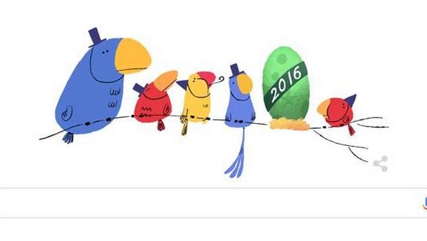 Felice Anno Nuovo con i due doodle di Google