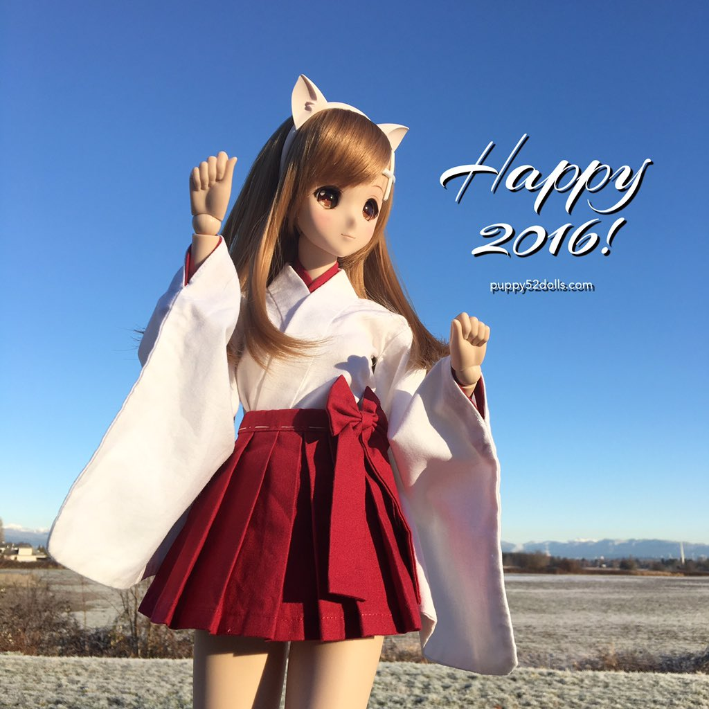 あけましておめでとうございます!#smartdoll #miraisuenaga  #puppy52dolls Happy 2016! https://t.co/DdPrkBGct7