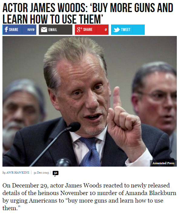 James Woods: 'Buy More Guns and Learn How to Use Them' https://t.co/diNTVO3ZFr via @BreitbartNews #tcot https://t.co/bmHvxyzHn7