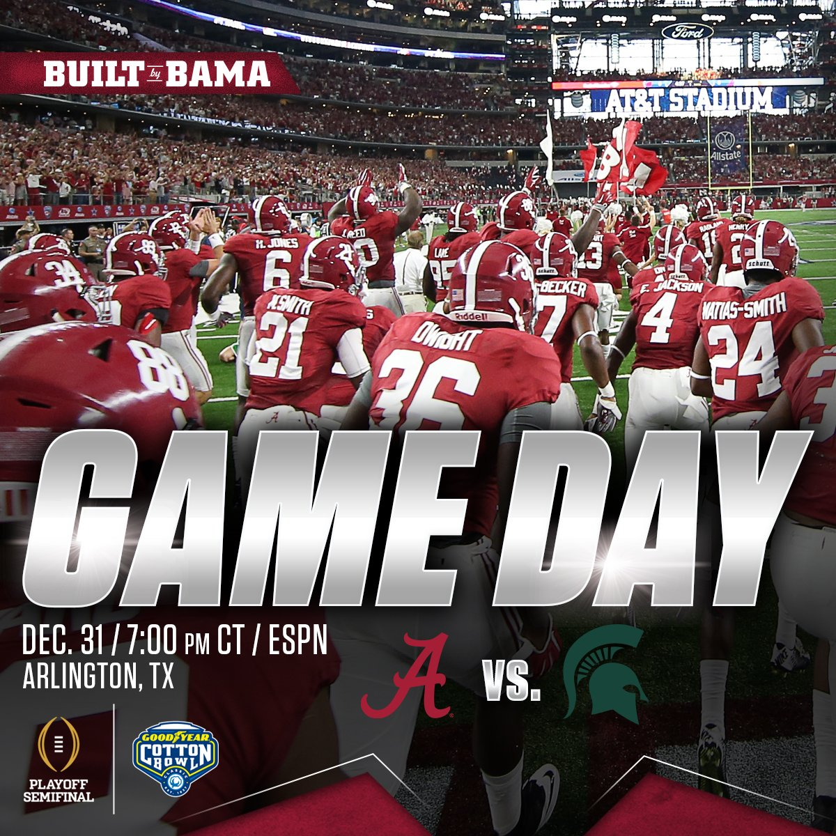 "Alabama Athletics on Twitter: ""#RollTide it's Game Day ..."