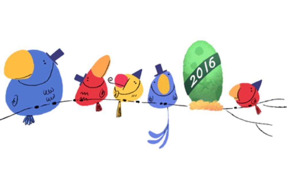 Felice Anno Nuovo! il doodle Google del 31 dicembre 2015