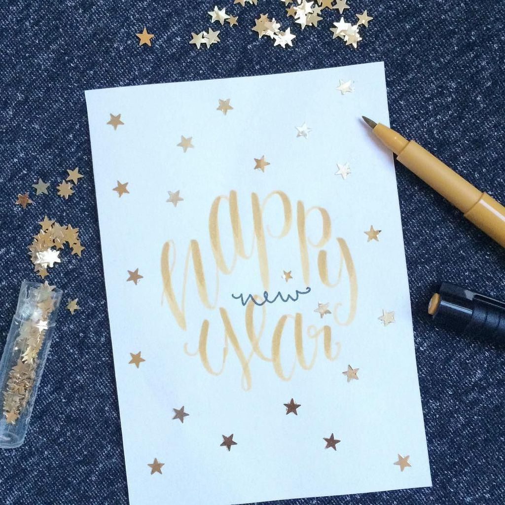 By lenienne Happy New Year #flitzepinsel #letterattack #lettering #handlettering #fabercastell #happynewyear …pic.twitter.com/n3W0f7xCkD