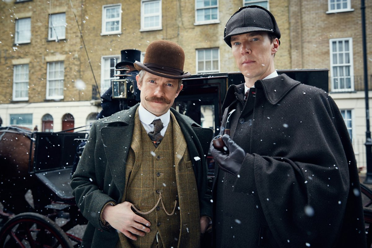 "Join us tomorrow at 7:30AM for an all-day #Sherlock marathon before new special ""The Abominable Bride"" airs at 9pm! https://t.co/V26XjTRCDz"