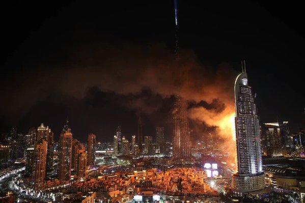 FOTO Así comenzó el grave incendio en hotel de Dubai https://t.co/jKDy5YE5hw https://t.co/oqPCkvmKcG