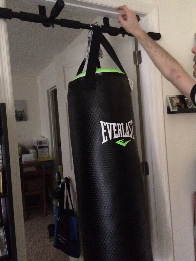 Punching bag for my apartment apartment decorating ideas for Boxing bedroom ideas