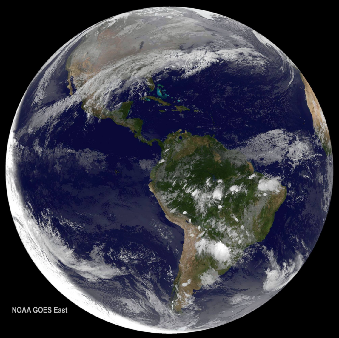 #HappyNewYear! NOAA's GOES East satellite captured this image of our home on the first day of #2016. https://t.co/UyzeWwrgo9