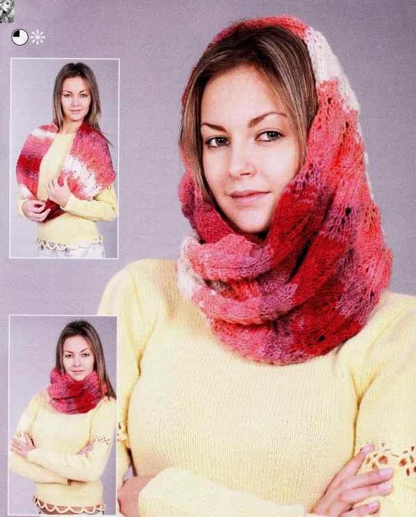 схемы вязания спицами женских шапок с описанием