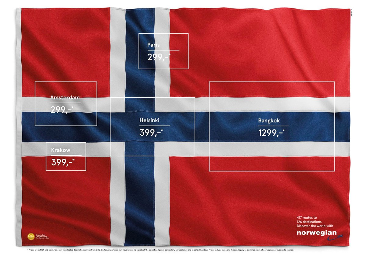 A clever marketing campaign by Norwegian Airlines. / via https://t.co/2js3Ea1hva https://t.co/G73yehLRY6