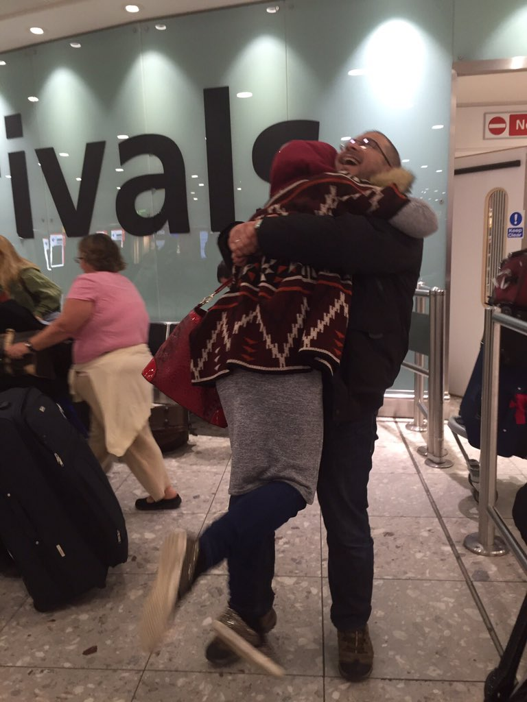 He proposed Dec 2012. Since: besieged,detained,tortured,made refugee for 1.5 years. Today:reunited in UK