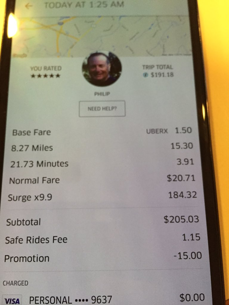 Customers complain about Uber's surge pricing on New Year's Eve