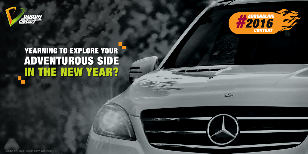 Share a picture of the adventure you want to indulge in 2016 & win 2 laps in Mercedes ML 350 at BIC  #Adrenaline2016 https://t.co/VKLy0DcRM1