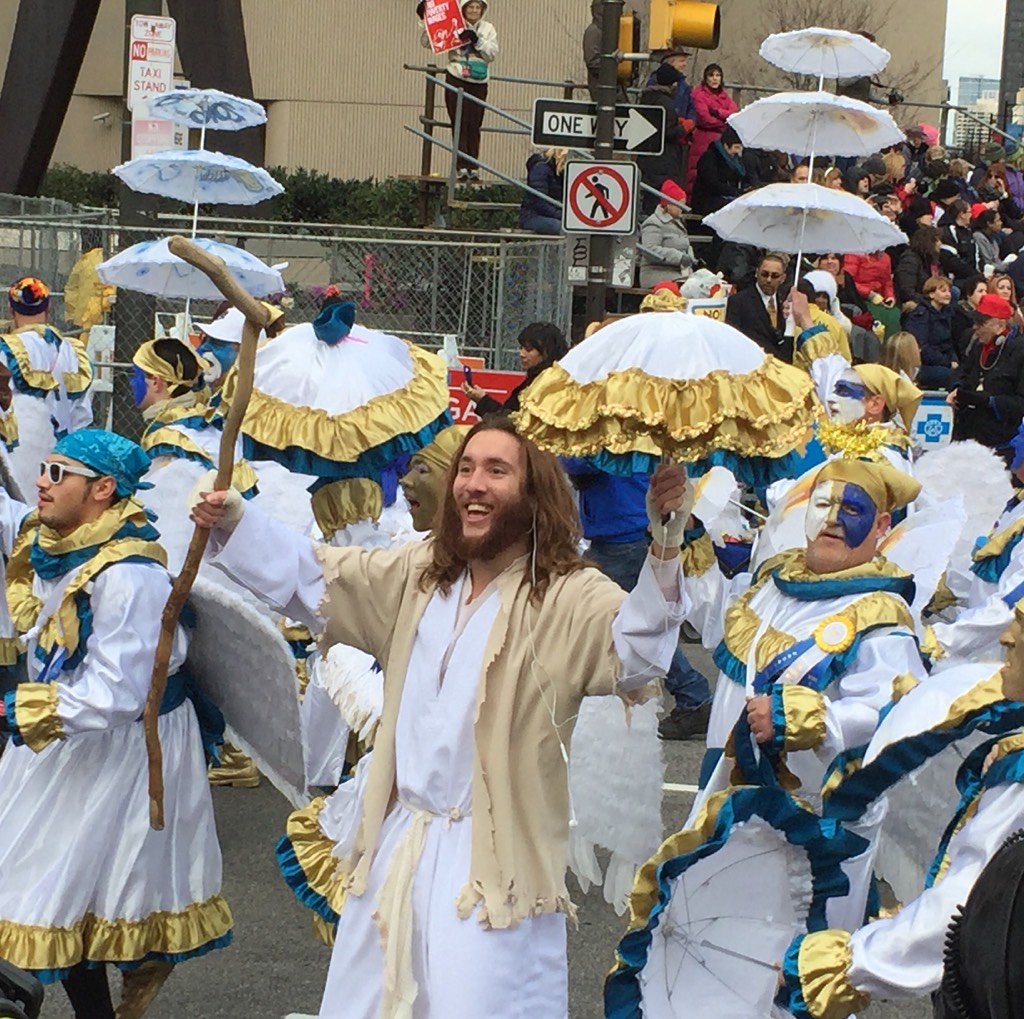Philly Jesus is marching with the wenches #mummers #mummers2016