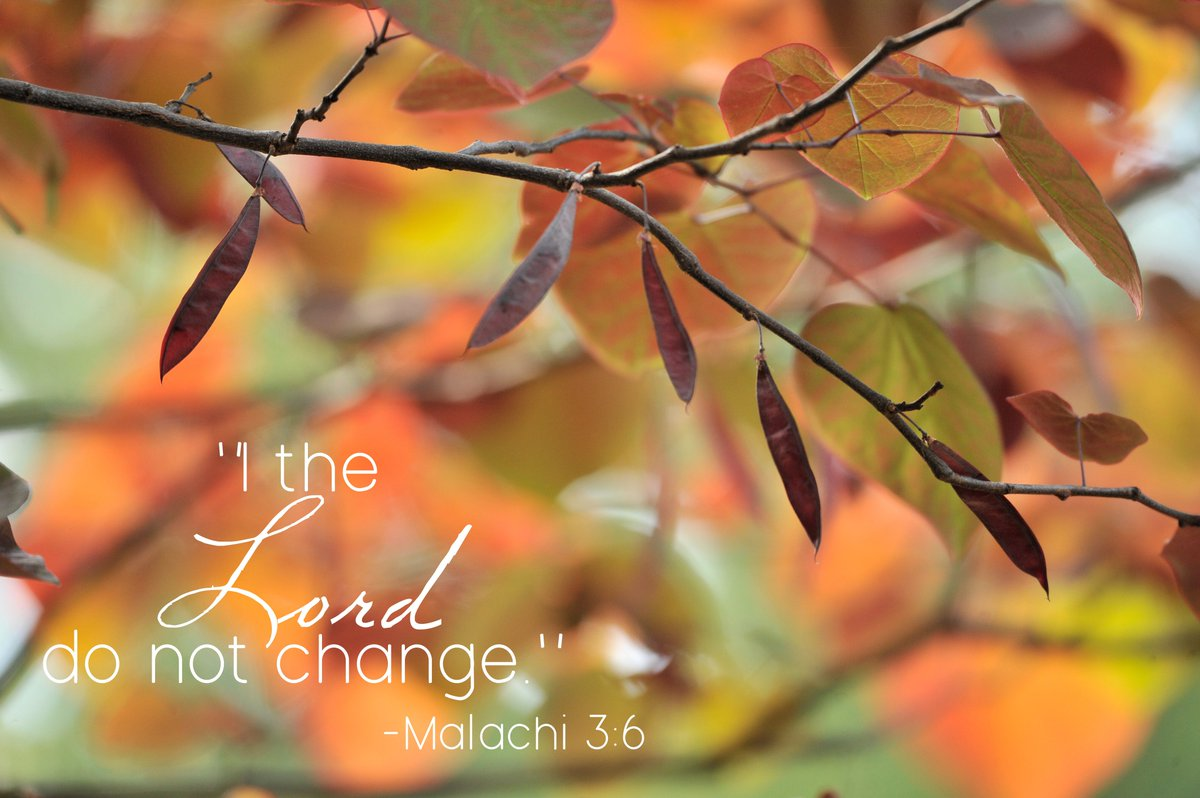October 9: Malachi 3:6. #HUreview15 https://t.co/tPU6wfGZJf