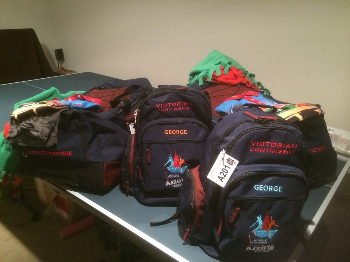 @thetodayshow my two boys bags are packed and ready to get on the bus tonight from Vic #AJ2016 https://t.co/puUxSuVZb8