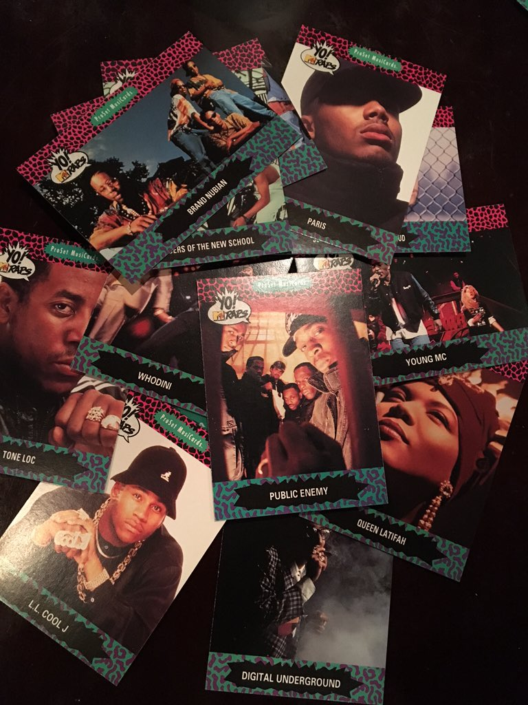 Found. Vintage '91 Yo MTV Raps trading cards featuring the one and only @MrChuckD ⚡️