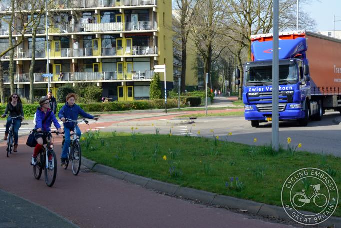 Nine Dutch-style roundabouts
