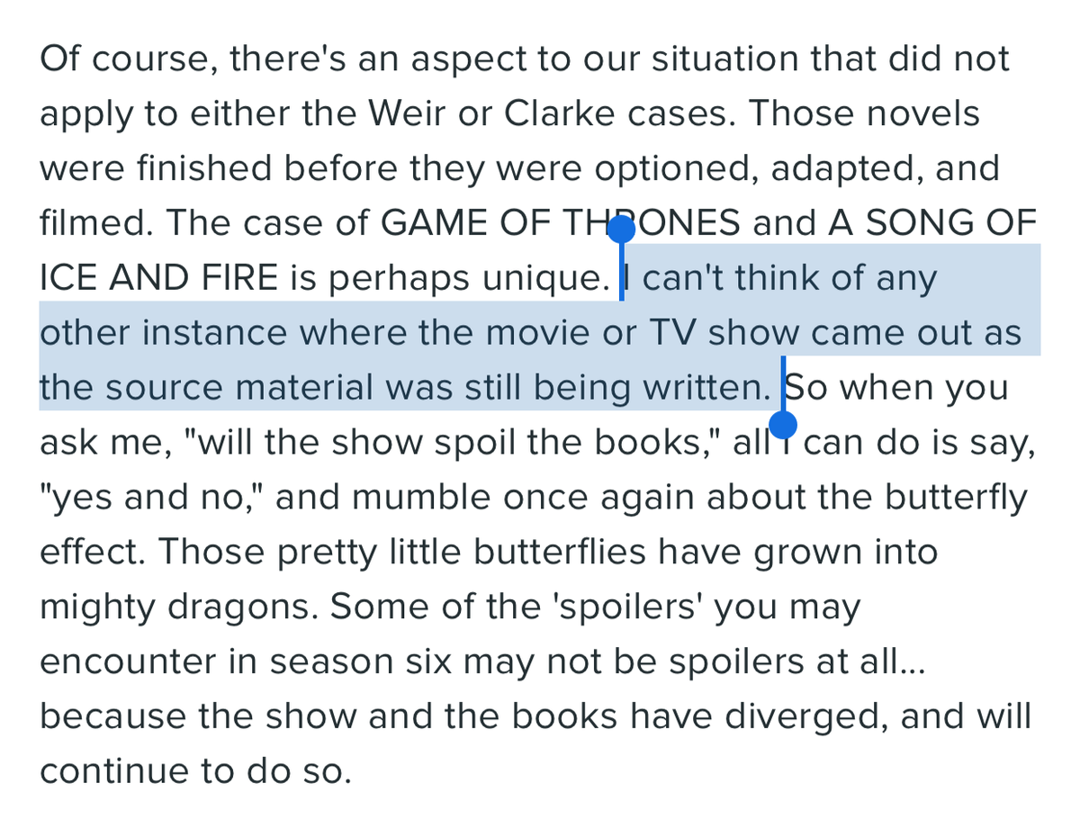 Today I learned: George R. R. Martin doesn't watch anime. https://t.co/Mt0SlyK5YS