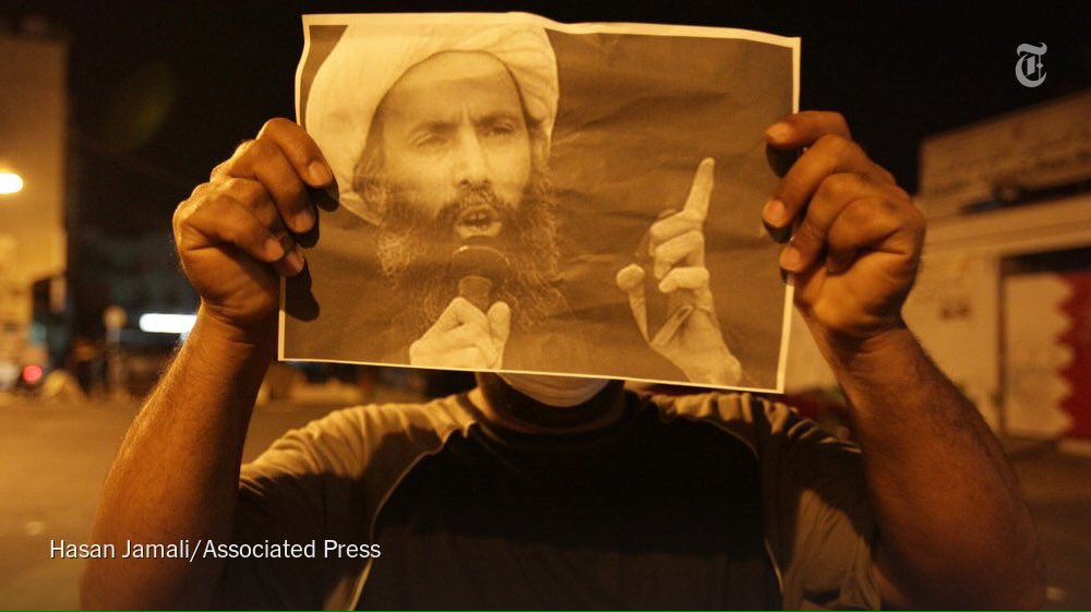 Amnesty described trial of Sheikh #NimrAlNimr, executed today by #Saudi, as 'deeply flawed' https://t.co/oKhkeC9M5G https://t.co/2sXnB0HjCW