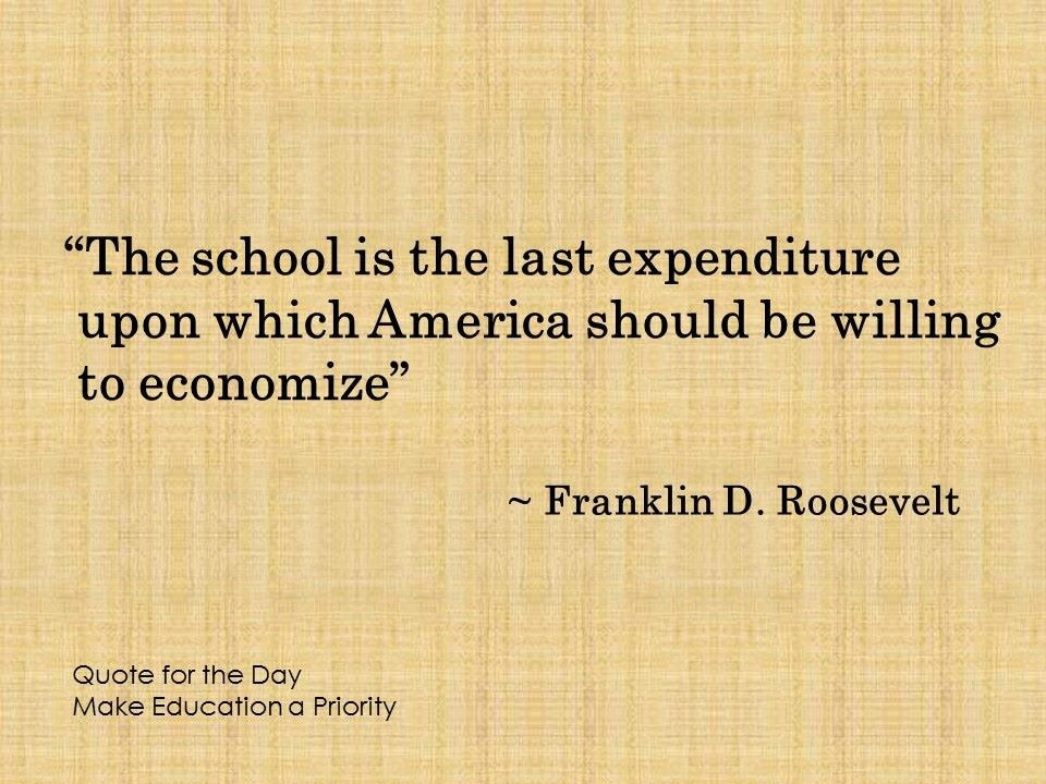 FDR on making investments in public education #quote https://t.co/d7P7P4rhbo