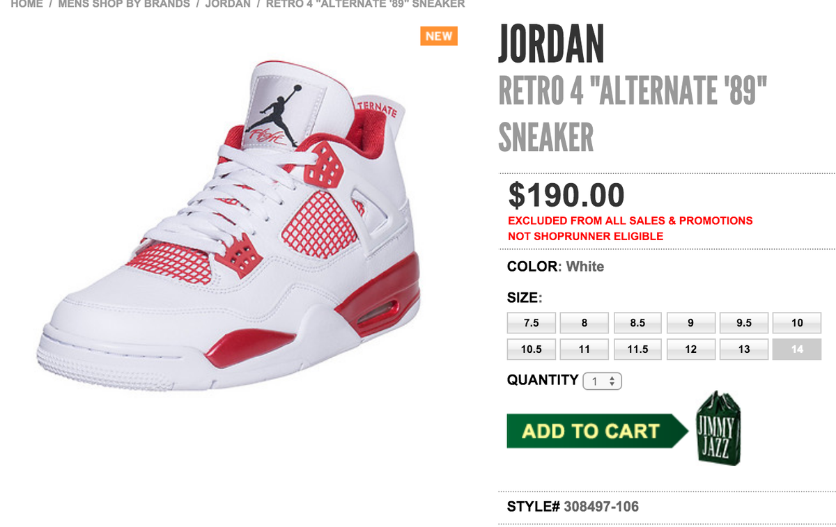 5c7a86c81905 ... buy sole links on twitter live via jimmy jazz air jordan 4 retro  alternate 89 menst
