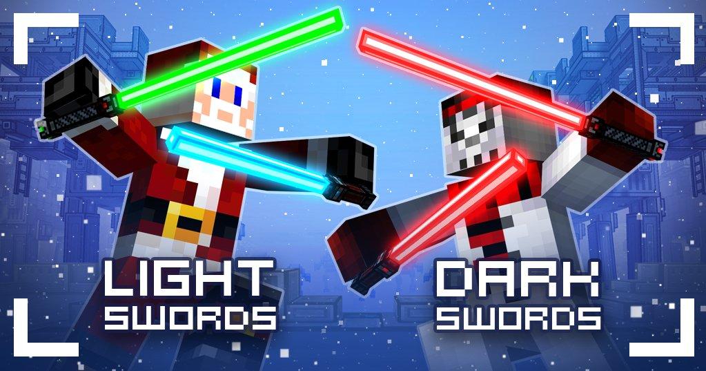 Pixel Gun World On Twitter Choose Light Or DarkSwords In - Minecraft shooter spiele